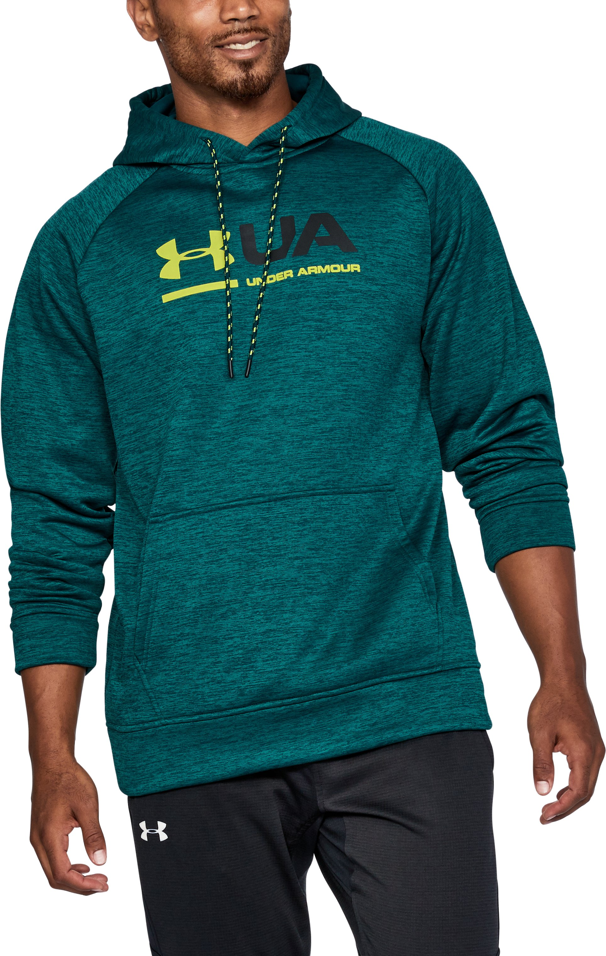 Men's UA Storm Armour Fleece® Tonal Twist Hoodie, ARDEN GREEN, undefined