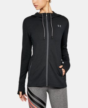 New Arrival Women's UA Featherweight Fleece Full Zip Hoodie  3 Colors $69.99