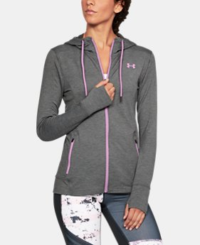 New Arrival Women's UA Featherweight Fleece Full Zip Hoodie  2 Colors $69.99