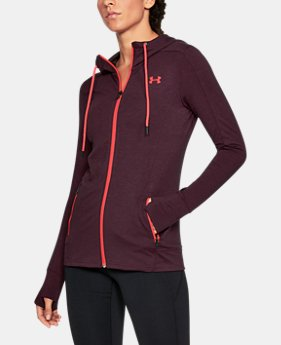Women's UA Featherweight Fleece Full Zip Hoodie  1 Color $52.49