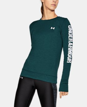 New Arrival Women's UA Featherweight Fleece Crew  1 Color $54.99