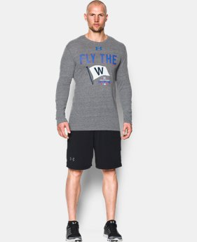 New Arrival Men's Chicago Cubs Fly the W Tri-blend Long Sleeve T-Shirt  1 Color $39.99