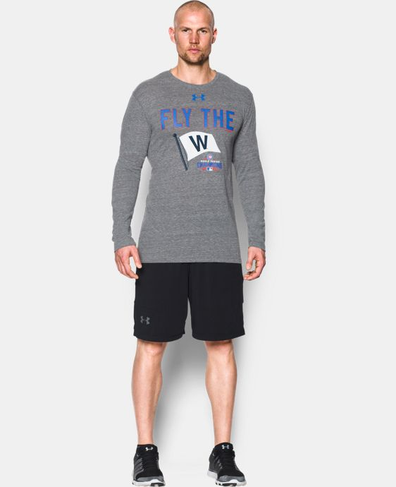 Men's Chicago Cubs Fly the W Tri-blend Long Sleeve T-Shirt   $39.99