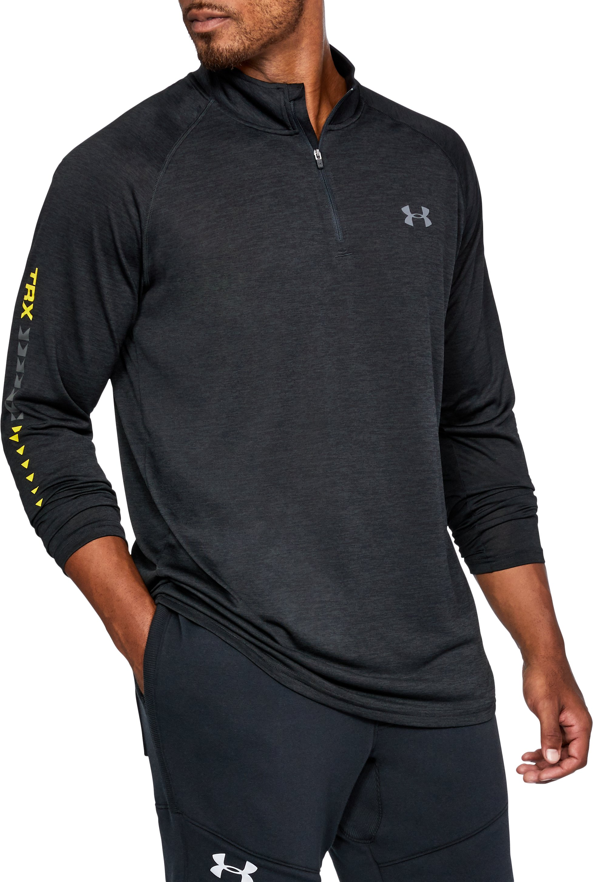 Men's UA x TRX ¼ Zip, Black