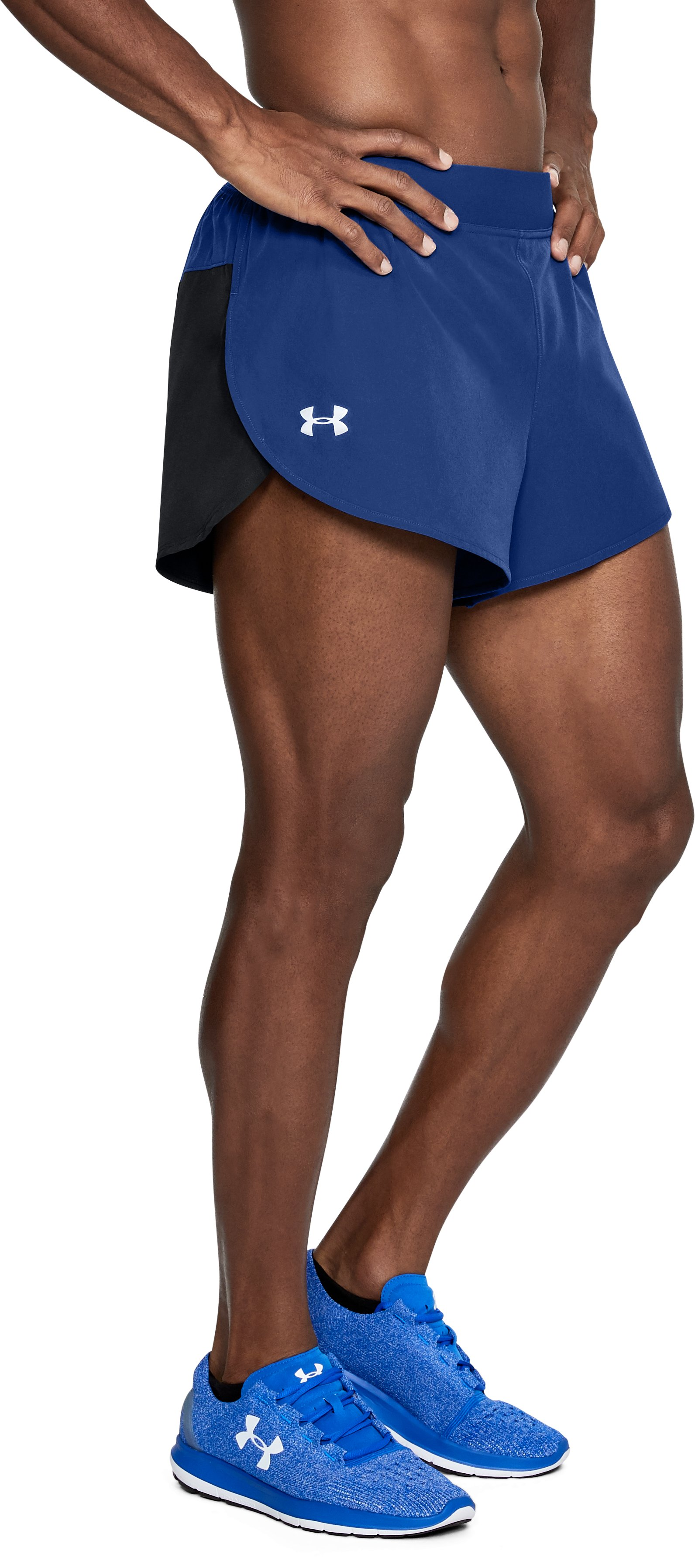 Men's UA CoolSwitch Split Shorts, FORMATION BLUE, undefined