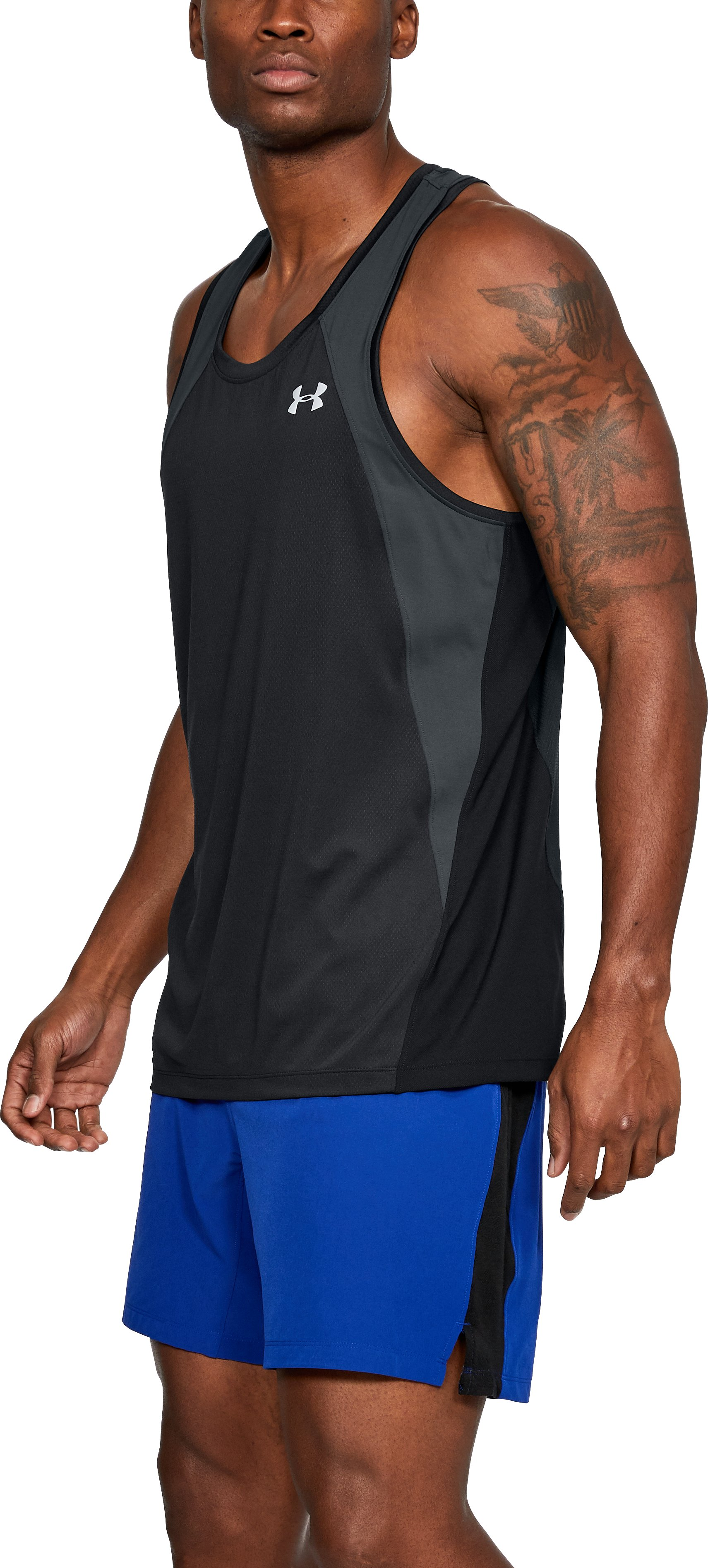 Men's UA CoolSwitch Singlet, Black ,