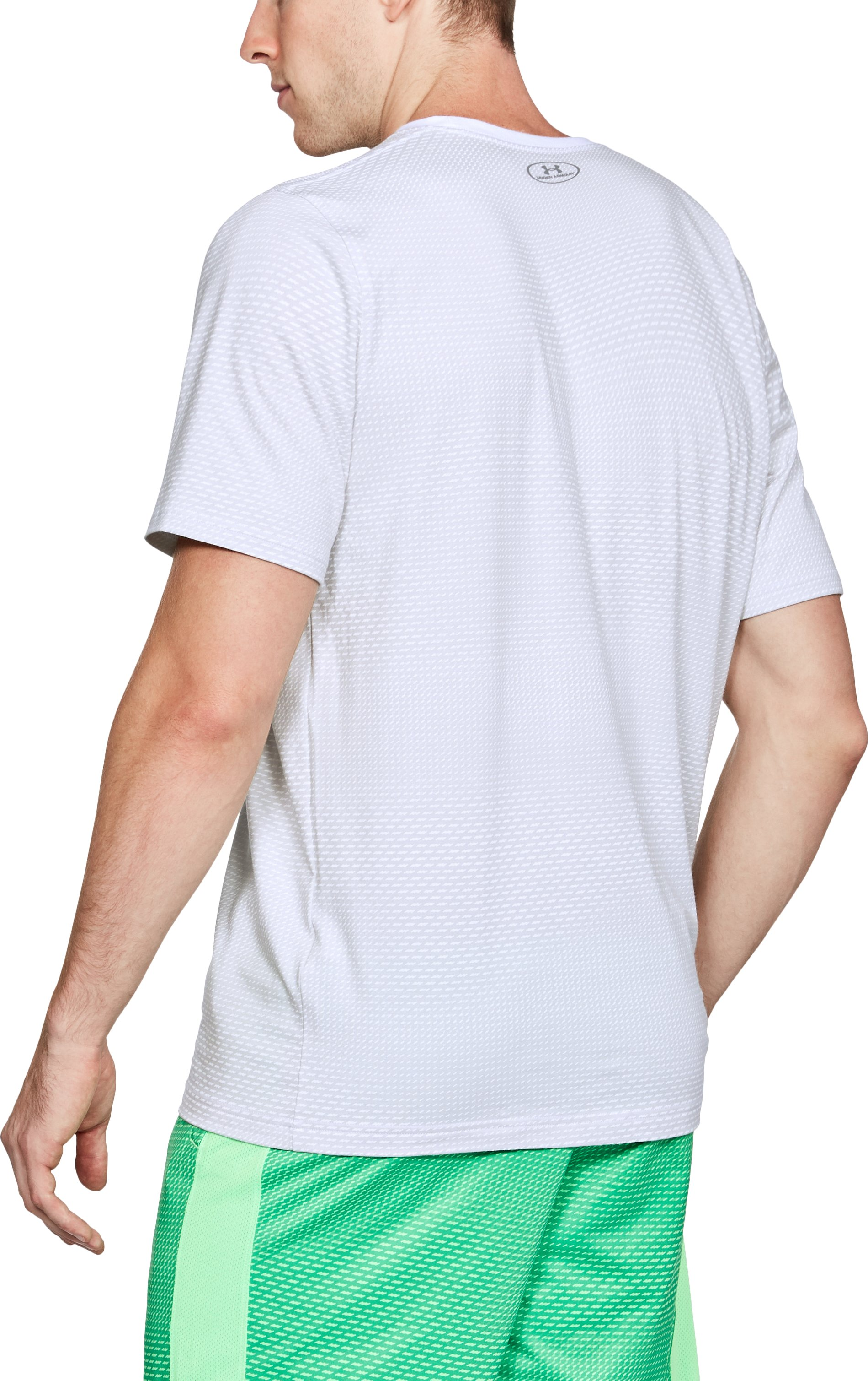Men's UA Better Boxed Sportstyle T-Shirt, White,