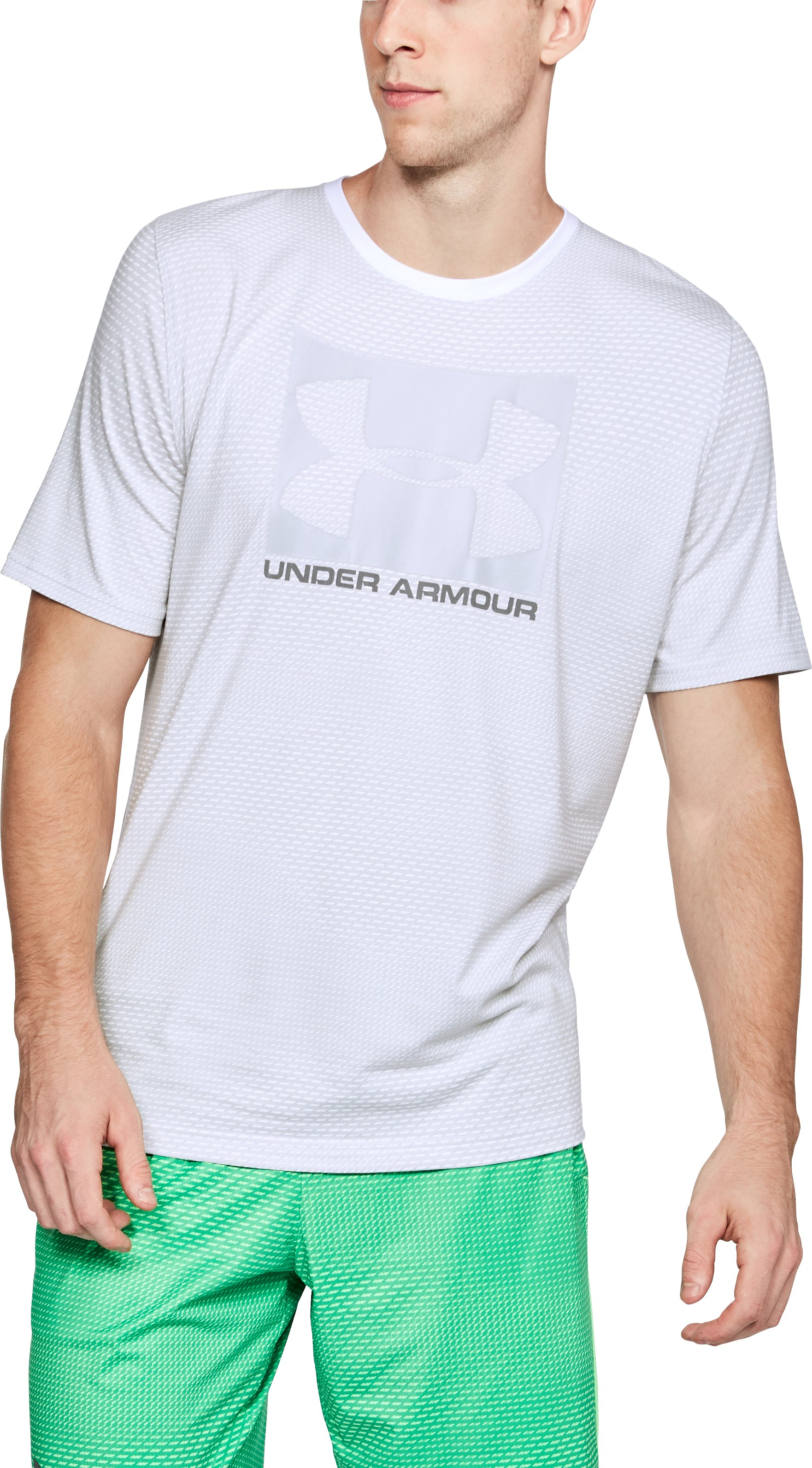Men's UA Better Boxed Sportstyle T-Shirt, White