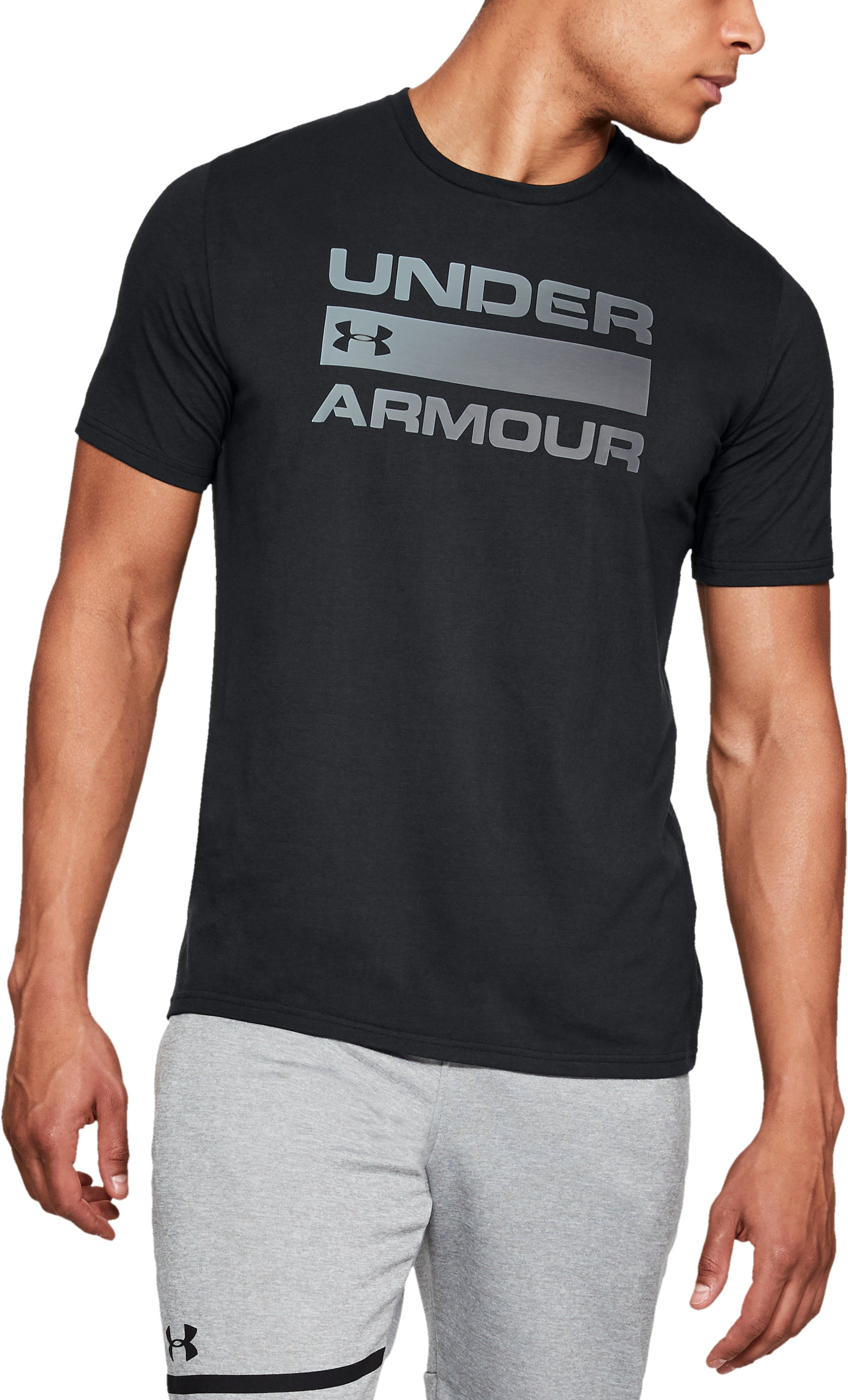 Men's UA Team Issue Wordmark T-Shirt, Black