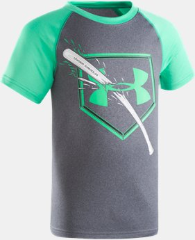 Boys' Pre-School UA Breaking Bat Raglan Short Sleeve Shirt  1 Color $19.99