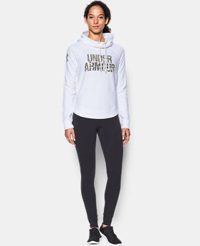 Women's UA Favorite Fleece Camo Logo Hoodie  1 Color $48.74