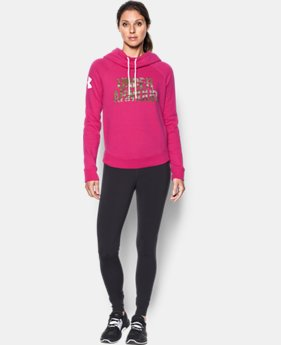 Women's UA Favorite Fleece Camo Logo Hoodie  3 Colors $49.99