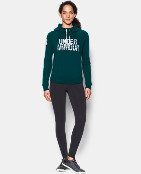 New to Outlet Women's UA Favorite Fleece Camo Logo Hoodie LIMITED TIME OFFER 1 Color $39.99
