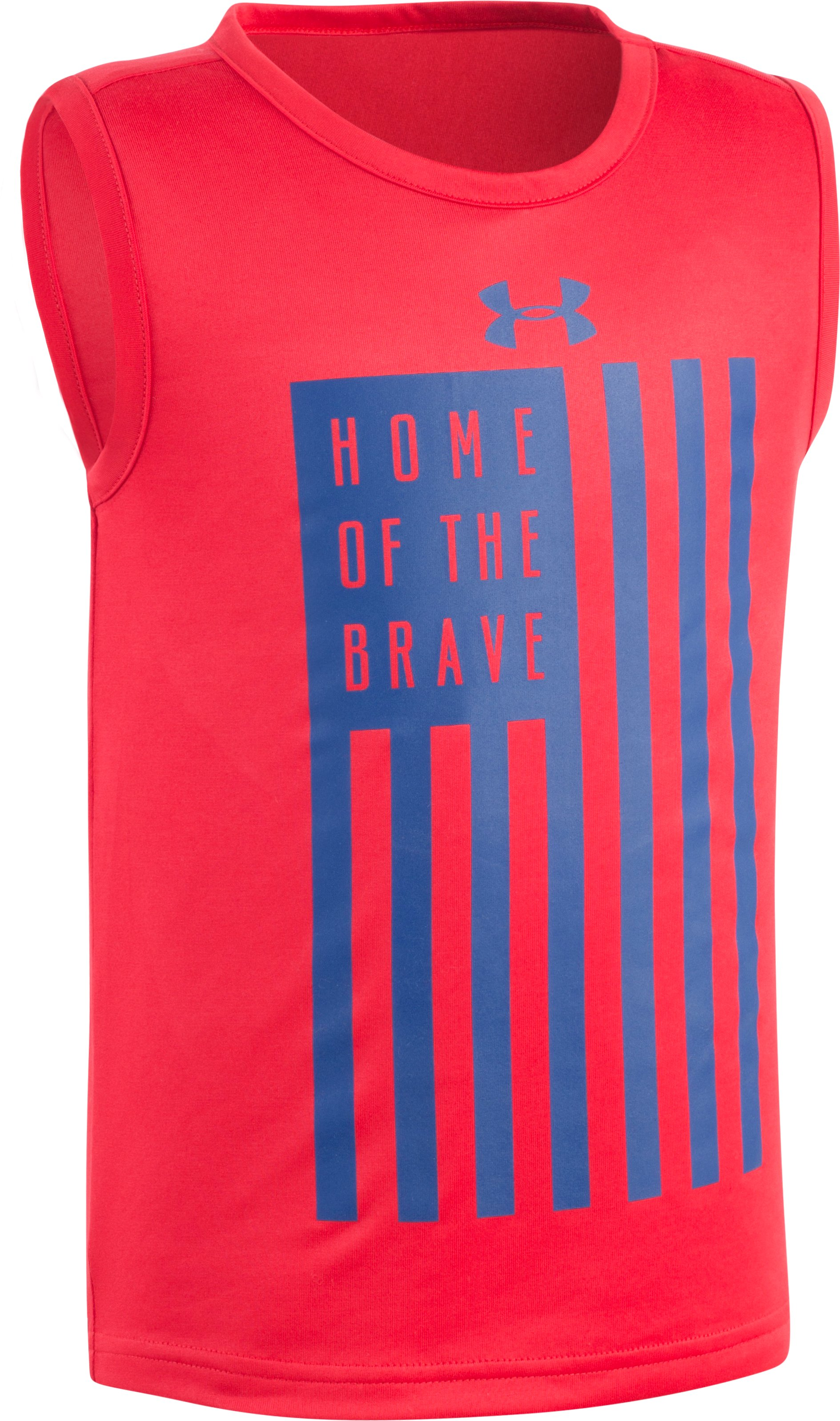 Boys' Infant UA Home Of The Brave Tank, Red, Laydown