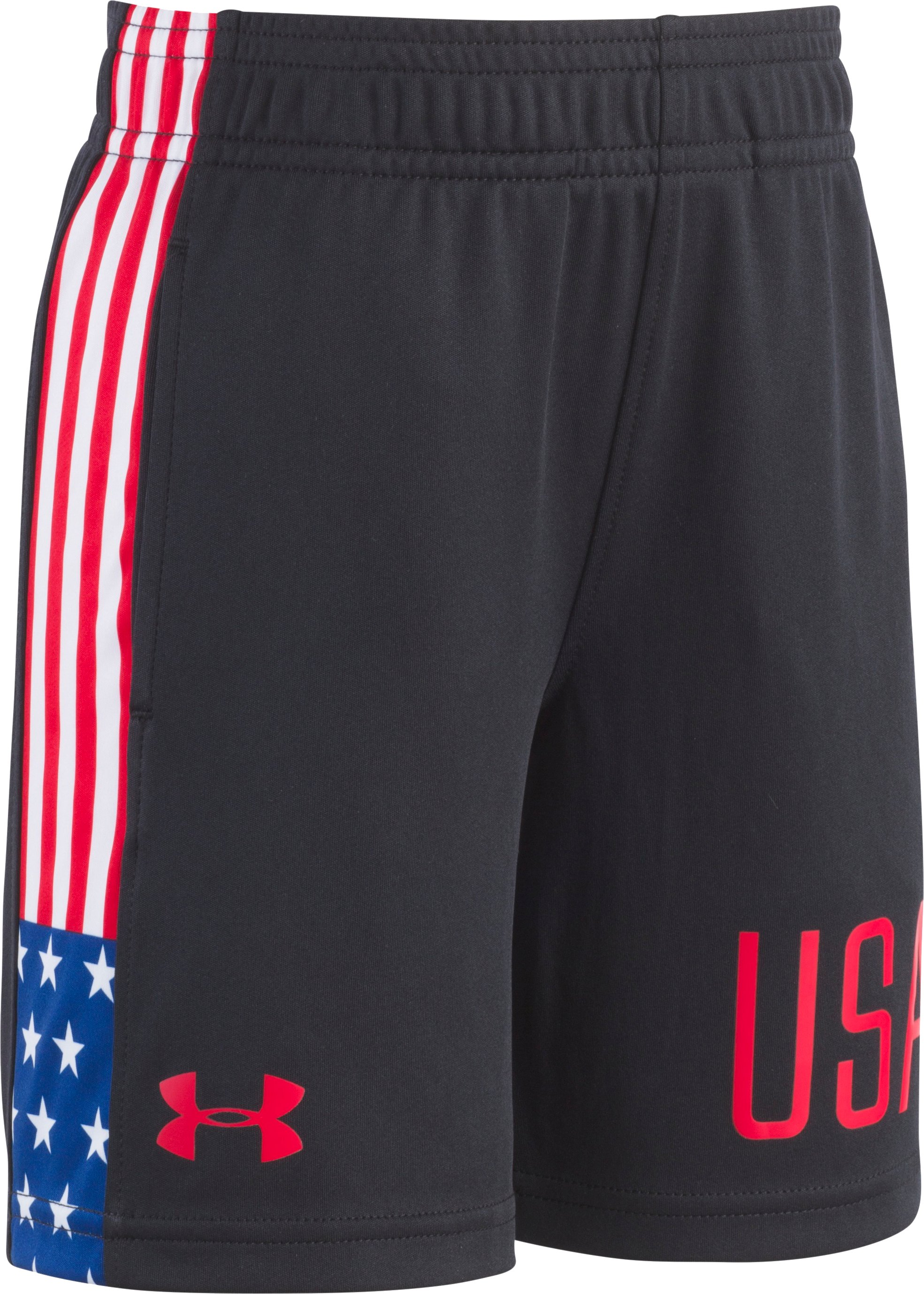 Boys' Infant UA USA Shorts, Black , Laydown