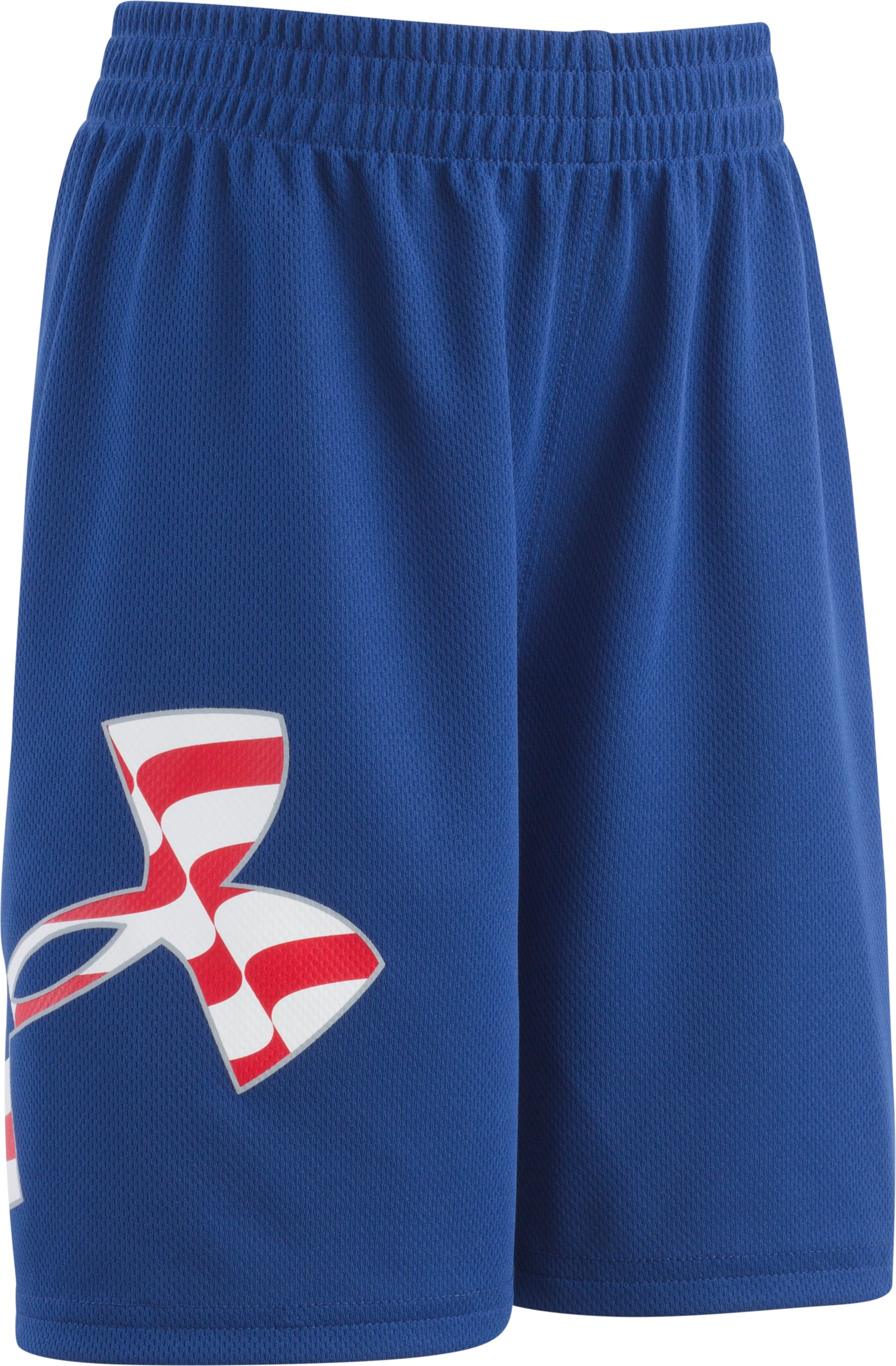 Boys' Toddler UA Big Logo Americana  Shorts, AMERICAN BLUE, Laydown