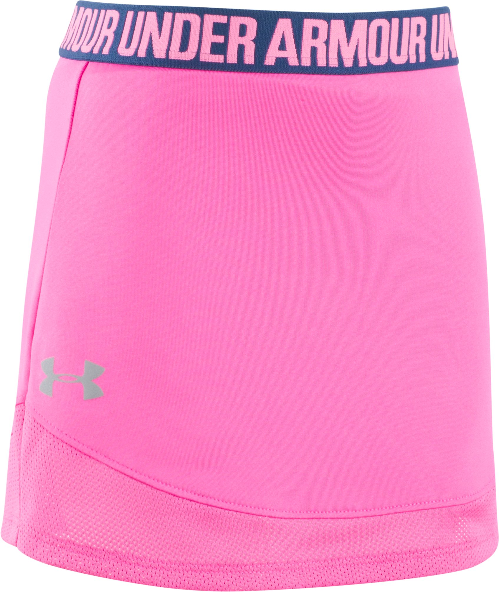 Girls' Pre-School UA Ace Skort, REBEL PINK, Laydown