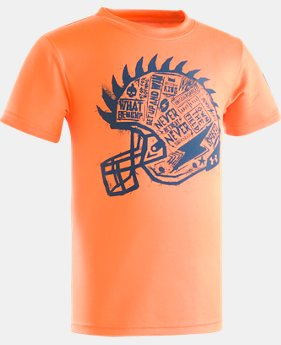 Boys' Pre-School UA Never Retreat Short Sleeve Shirt  1 Color $17.99