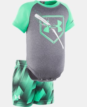 Boys' Newborn UA Breaking Bat Raglan Set  1 Color $24.99