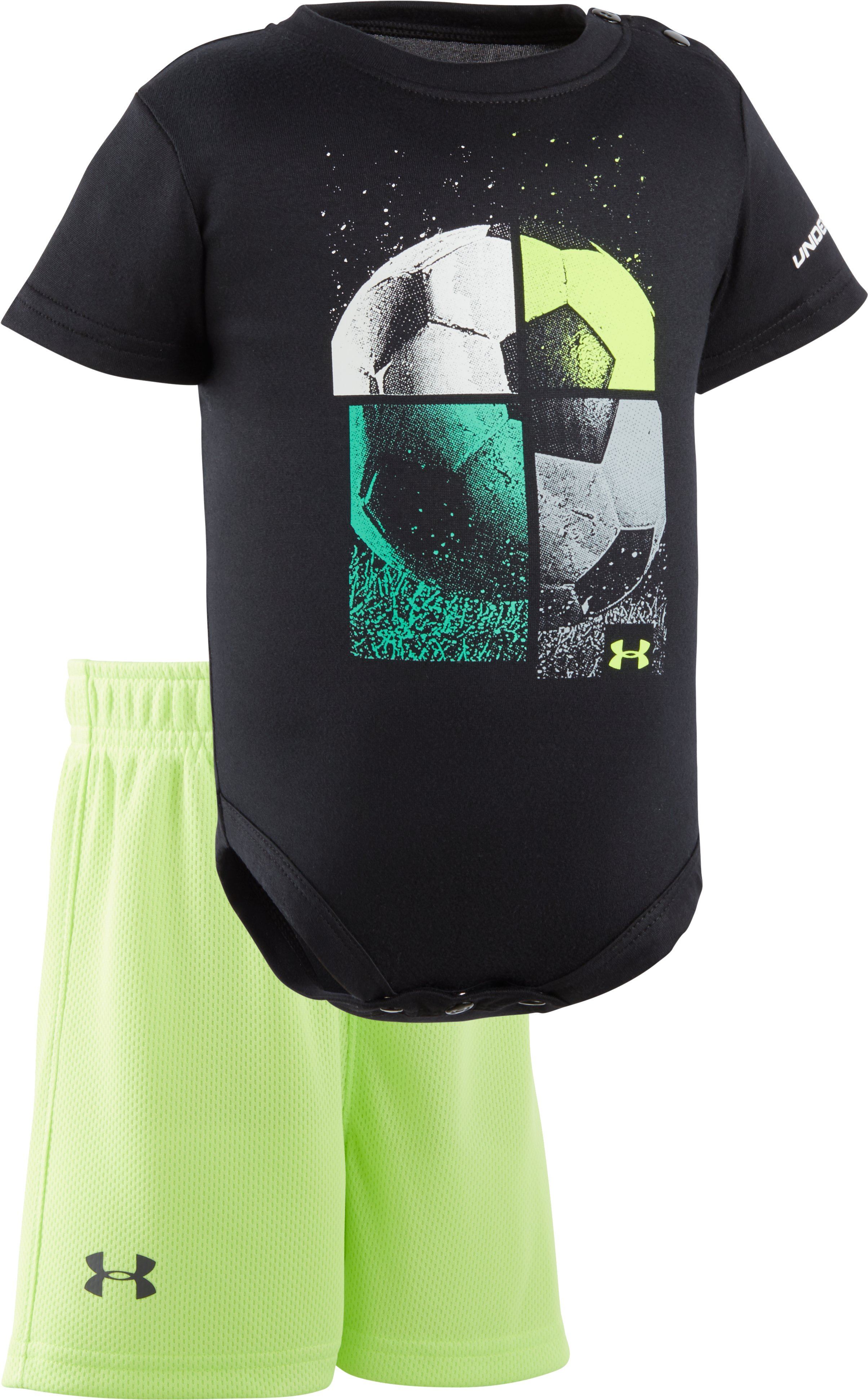 Boys' Newborn UA Quarterly Set, Black , Laydown