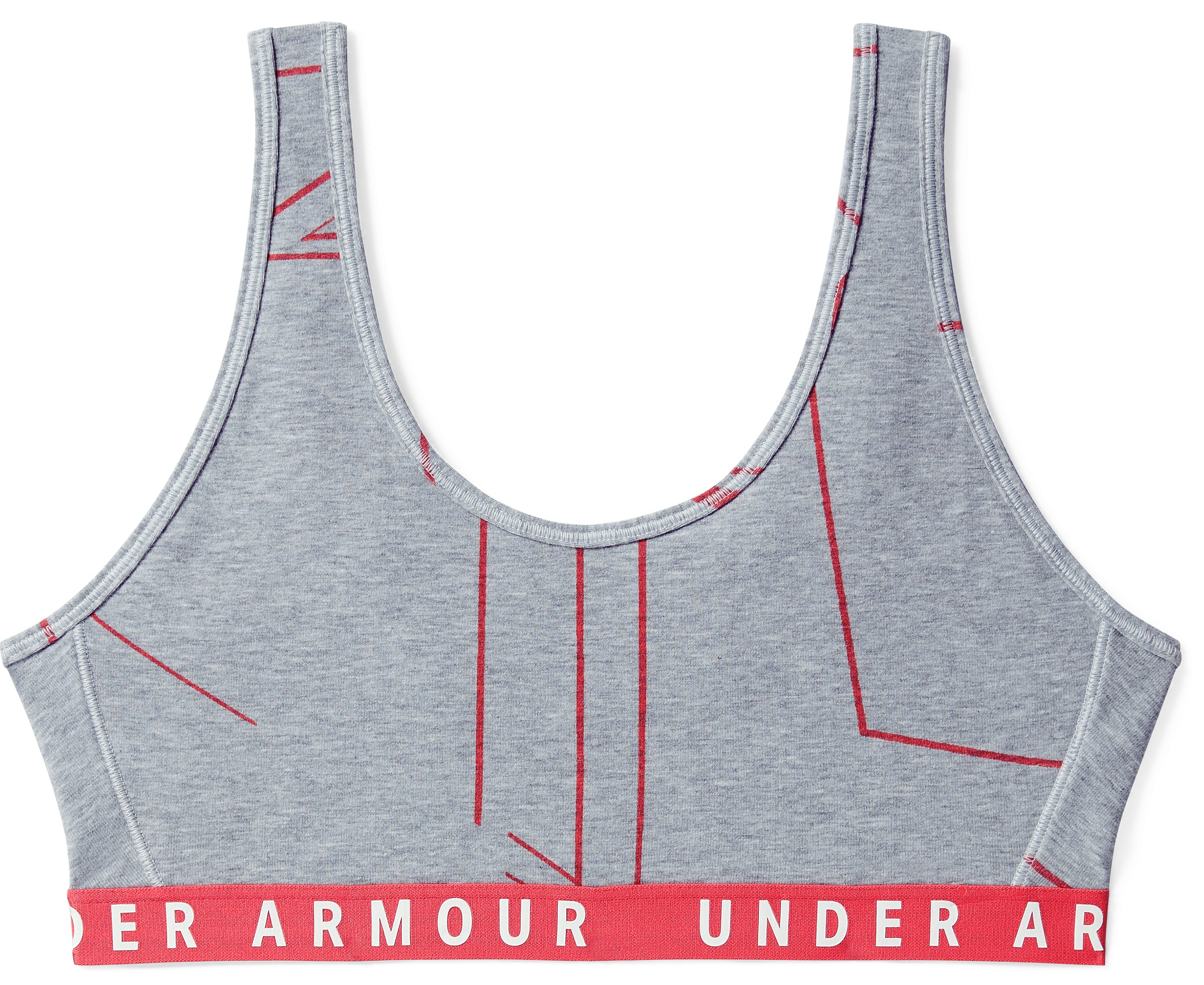 Women's UA Favorite Cotton Heathered Print Everyday Bra, STEEL MEDIUM HEATHER,