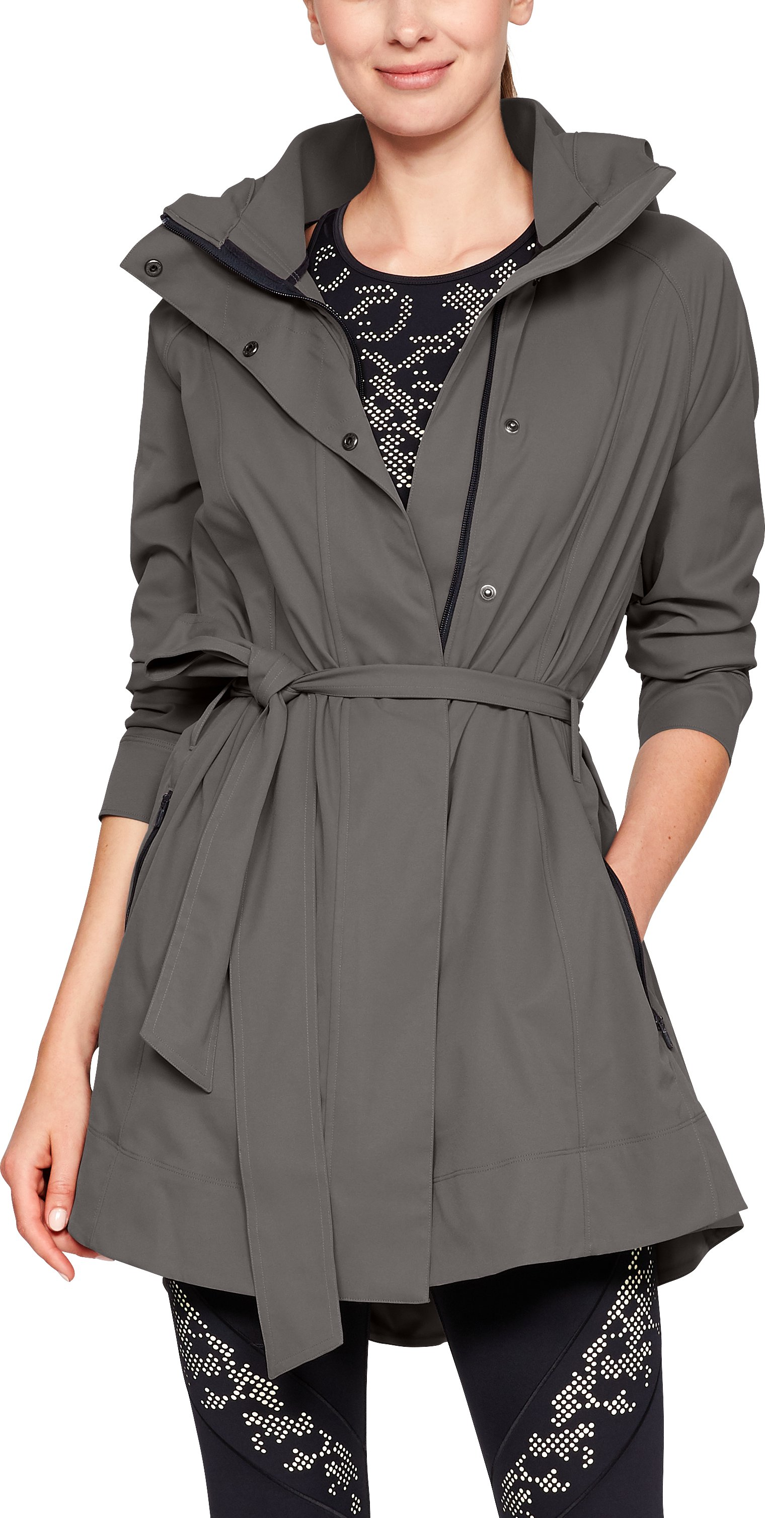Women's Misty Copeland Signature Woven Trench, MINK GRAY