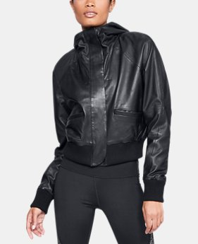 Women's UA Misty Copeland Signature Leather Bomber Jacket  1  Color Available $550