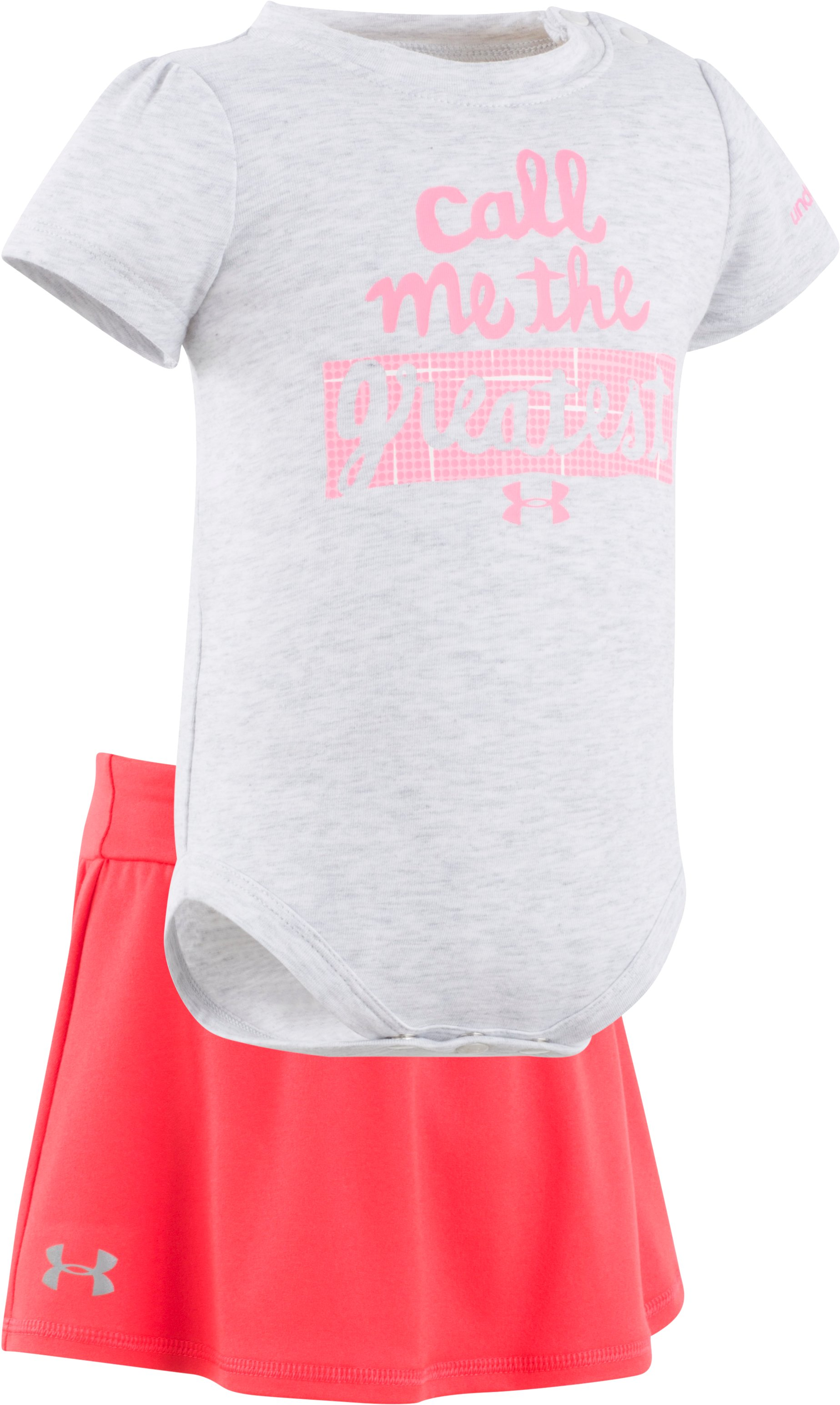 Girls' Newborn UA Call Me The Greatest Set, AIR FORCE GRAY HEATHER, Laydown