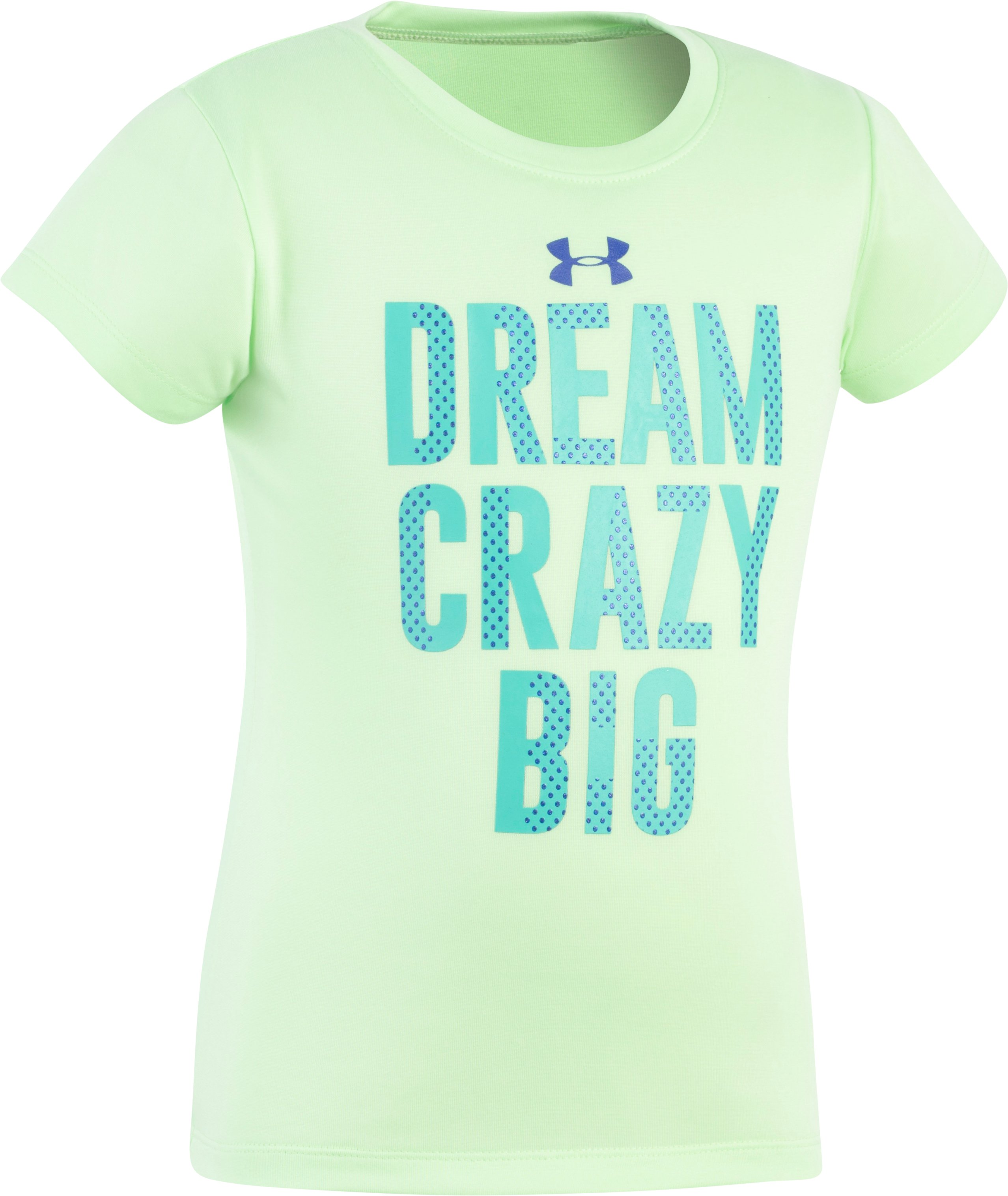 Girls' Toddler UA Dream Crazy Big T-Shirt, SUMMER LIME, Laydown