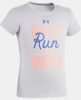 Girls' Pre-School UA Run The World T-Shirt  1 Color $10.49