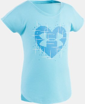 Girls' Pre-School UA Glaze Heart T-Shirt  1 Color $14.24