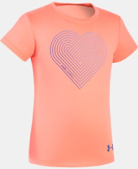 Girls' Pre-School UA Heartstrings Short Sleeve  1 Color $17.99