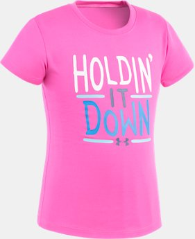 Girls' Pre-School UA Holdin' It Down T-Shirt  1 Color $10.49