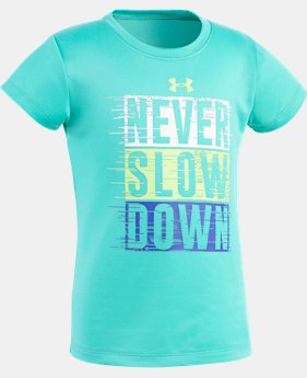 Girls' Pre-School UA Never Slow Down T-Shirt  1 Color $10.49