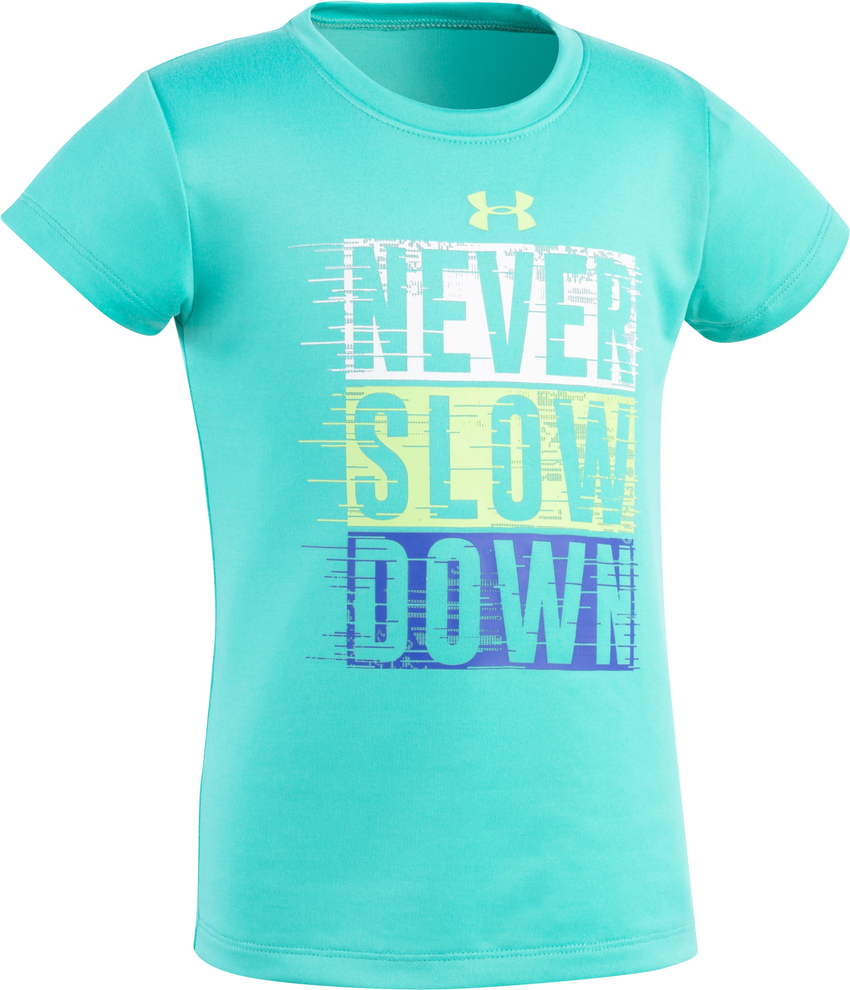 Girls' Toddler UA Never Slow Down T-Shirt, ABSINTHE GREEN, zoomed image