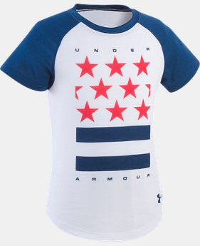 Girls' Toddler UA Stars & Stripes T-Shirt  1 Color $16.99