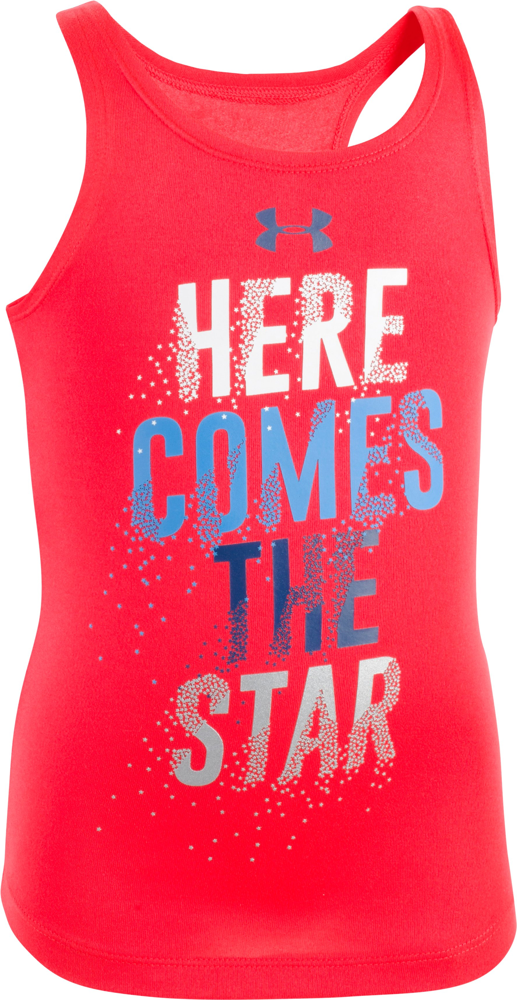 Girls' Toddler UA Here Comes The Star  Tank, ROCKET RED, Laydown