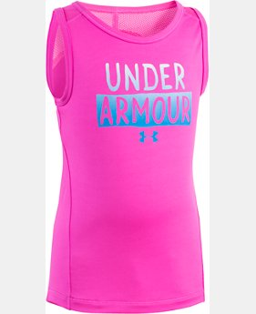 Girls' Pre-School UA Stacked Logo Tank  1 Color $16.99