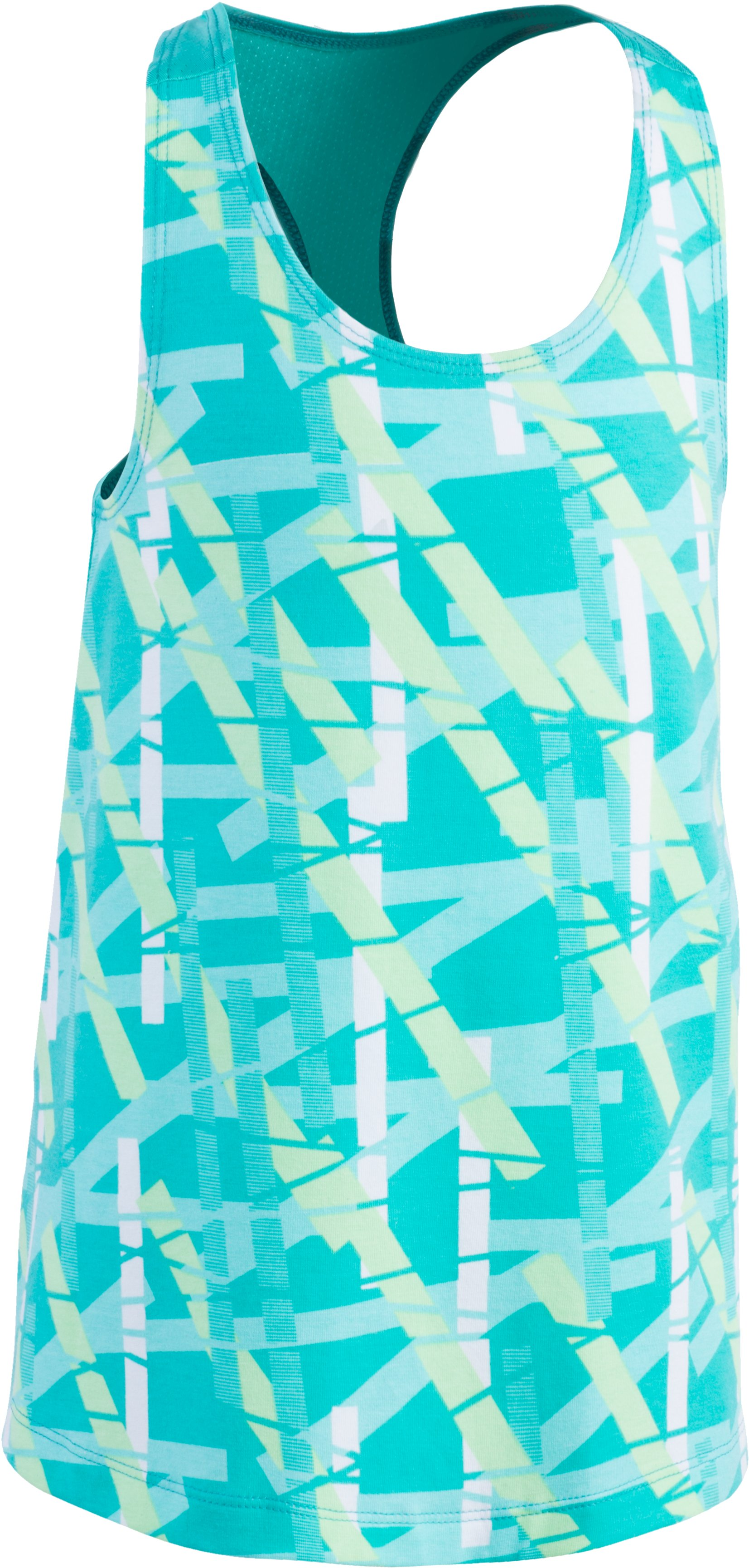 Girls' Pre-School UA MixMaster Tank, ABSINTHE GREEN, Laydown