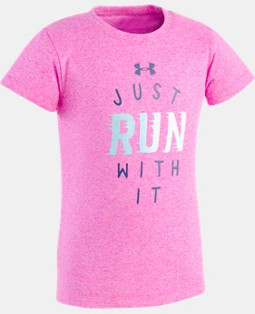 Girls' Toddler UA Just Run With It T-Shirt  1 Color $10.49