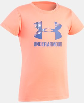 Girls' Toddler UA Terra Big Logo Short Sleeve  1 Color $10.49