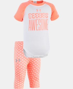Girls' Newborn UA Wake Up Awesome Set  1 Color $34.99
