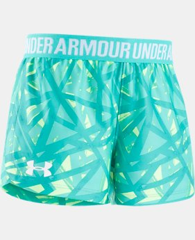 Girls' Pre-School UA Shifting Ladders Play Up Shorts  1  Color Available $19.99