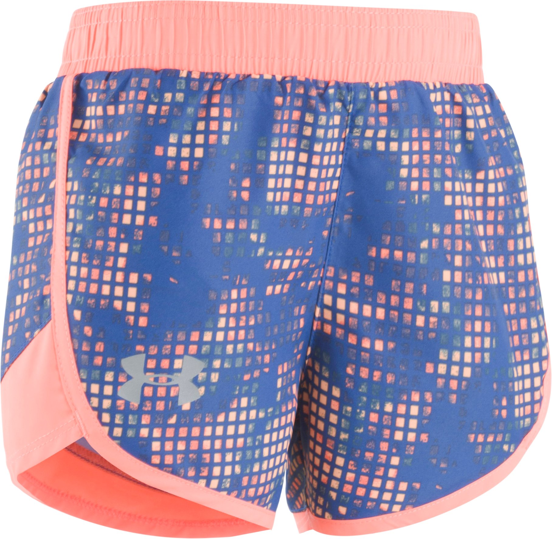 Girls' Pre-School UA Fast Lane Shorts, DEEP PERIWINKLE