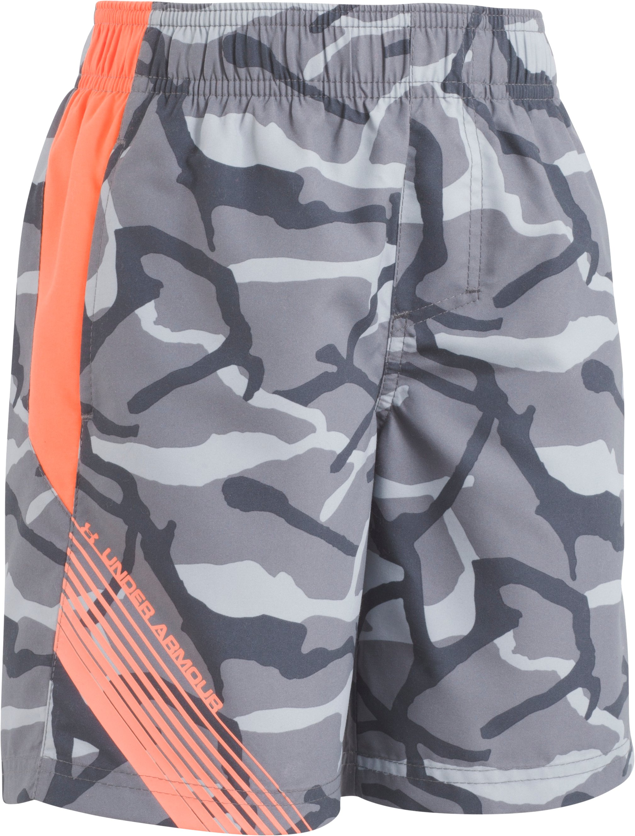 Boys' UA Anatomic Volley Shorts, Graphite, Laydown