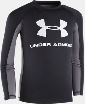 Boys' UA Compression Long Sleeve Rashguard Shirt   $30
