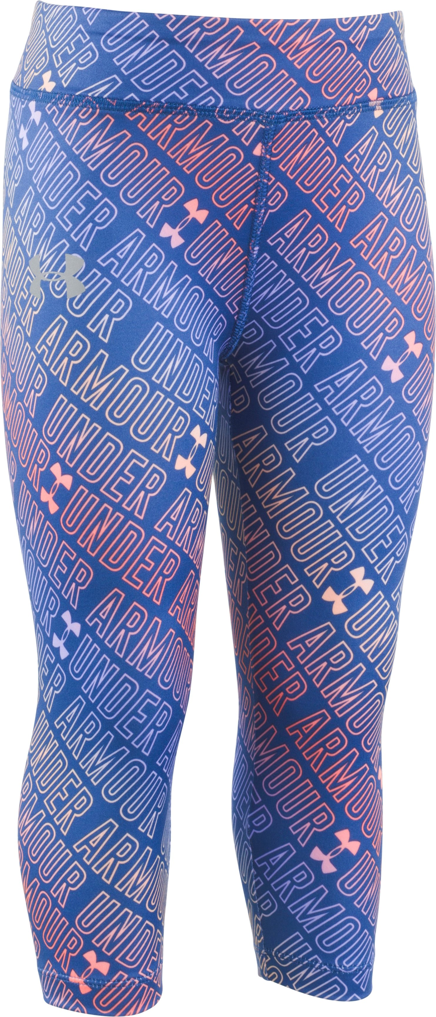 Girls' Toddler UA Wordmark Capris, DEEP PERIWINKLE