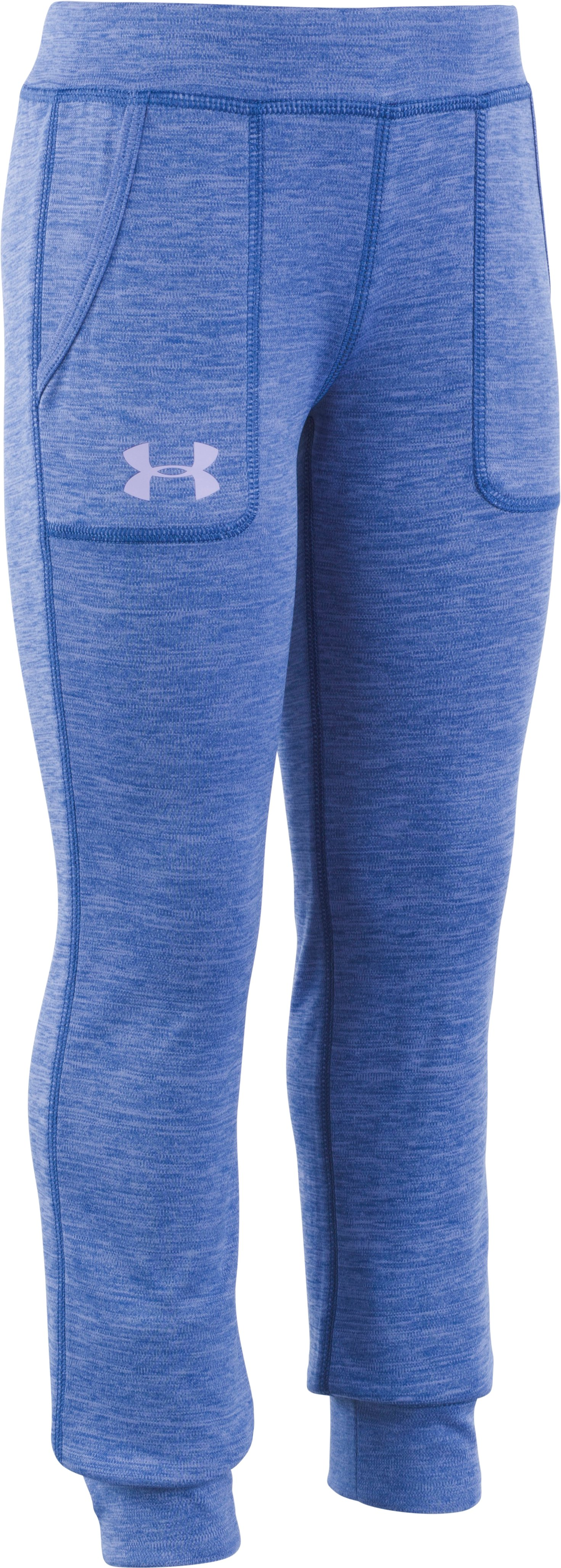 Girls' Toddler UA Tech™ Joggers, DEEP PERIWINKLE, Laydown