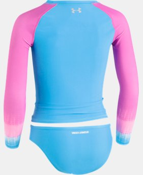 Girls' Pre-School UA Ombre Long Sleeve Rashguard Set  1 Color $29.99