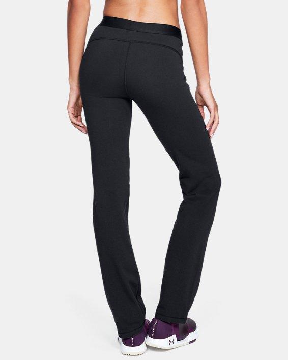 Women's UA Favorite Straight Leg Pants, Black, pdpMainDesktop image number 2